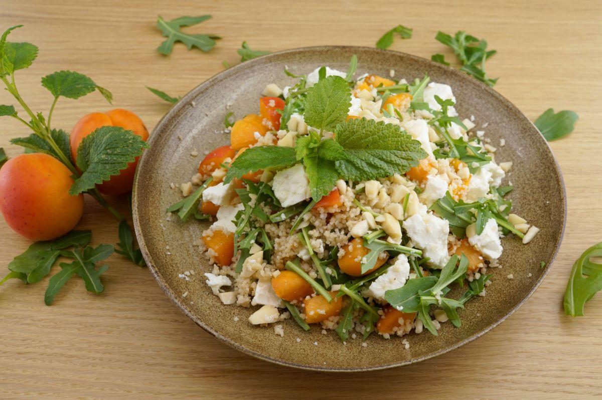 Couscous-Salat mit Marillen