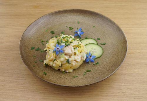 Dorsch-Sellerie-Salat mit Distel[-]mayonnaise