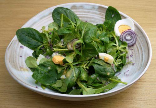 Frühlings[-]salat mit Camelina[-]dressing
