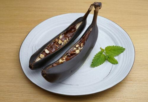 Ge[-]grillte Schoko-Bananen mit Hasel[-]nuss[-]öl