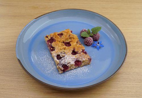 Himbeer-Streusel-Kuchen mit Trauben[-]kern[-]öl