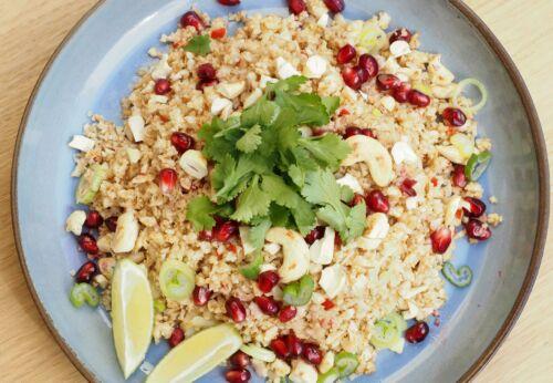 Karfiol-Couscous mit Macadamia[-]nussöl