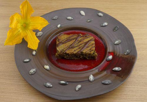 Kürbis[-]kern-Becher-Kuchen mit Mandel[-]mehl
