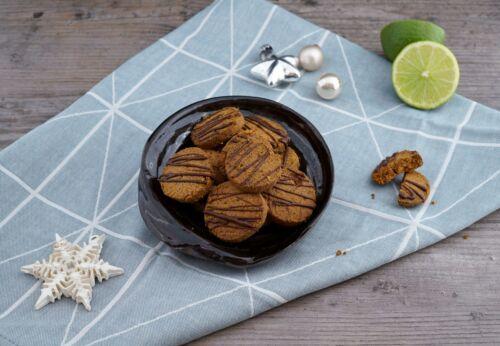 Mürbe Mandel-Limetten-Kekse