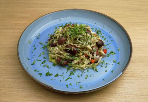 Winterlicher Steirer[-]salat mit Cuvée FÜNF
